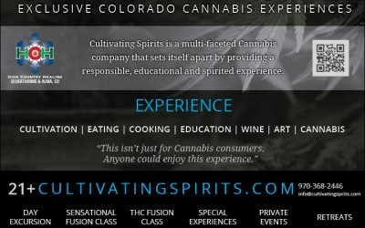 Cultivating Spirits full page ad shot by Joseph Large