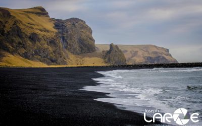 Black Sand Beaches at Vik shot by Joseph Large