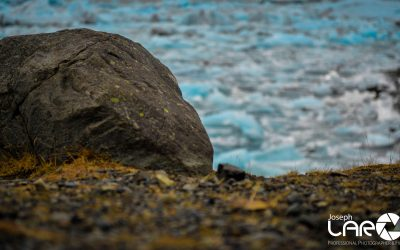 Solitary Rock at Glacier Lagoon shot by Joseph Large