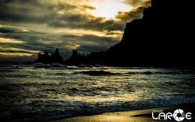Vik Beach at Sunset